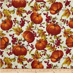 Timeless Treasures Fall Festival Pumpkin Toss Cream