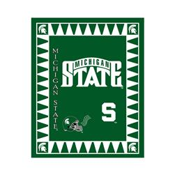 Collegiate Fleece Panel Michigan State University Green Fabric