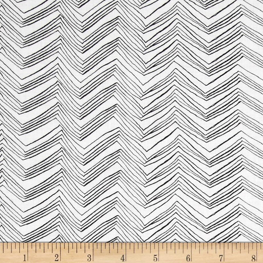 Timeless Treasures Chevron White/Black
