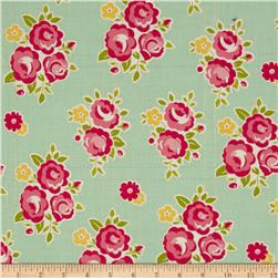 Riley Blake Sidewalks Floral Teal