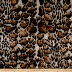 Luxury Faux Fur Clouded Leopard Beige/Brown