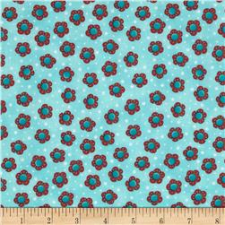 Cool Cats Small Floral Blue