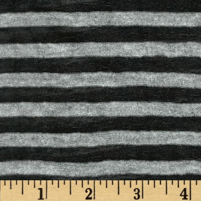 Onion Skin Striped Jersey Knit Grey/Black