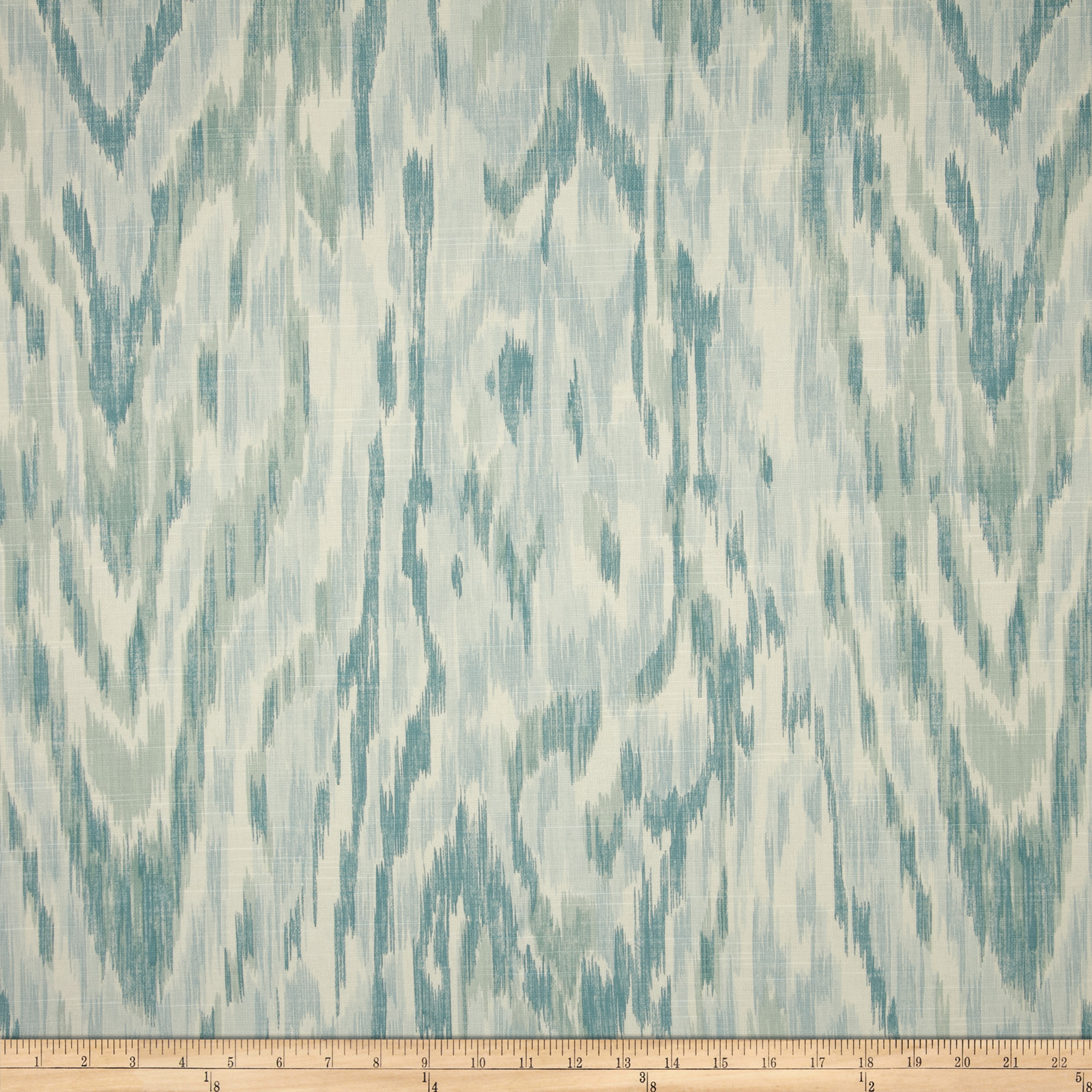Home Accents Khartoum Ikat Slub Smokey Aqua Fabric