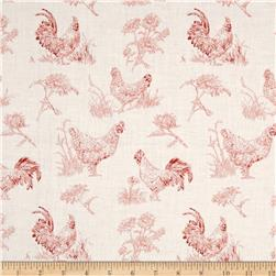 Early to Rise Toile Cream/Red