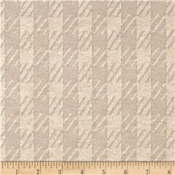 Lightweight Sweater Knit Houndstooth Beige