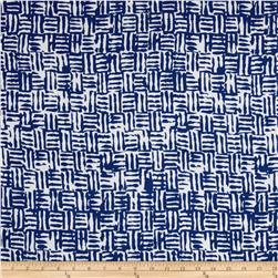 Rayon Voile Blue/White