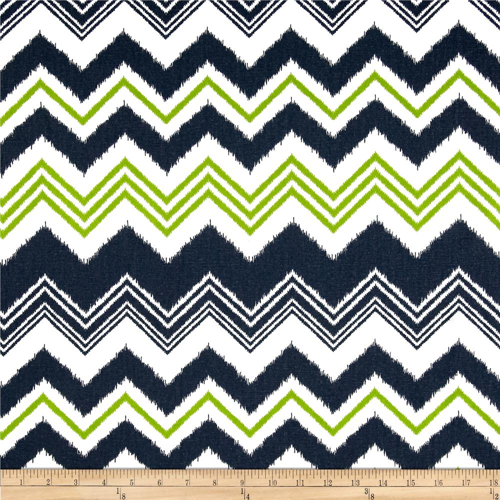 Premier Prints Zazzle Navy/Chartreuse