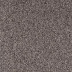 Wool Blend Melton Light Grey Mix