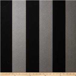 Fabricut 8827e Sutton Stripe Wallpaper S0941 Charcoal (Triple Roll)