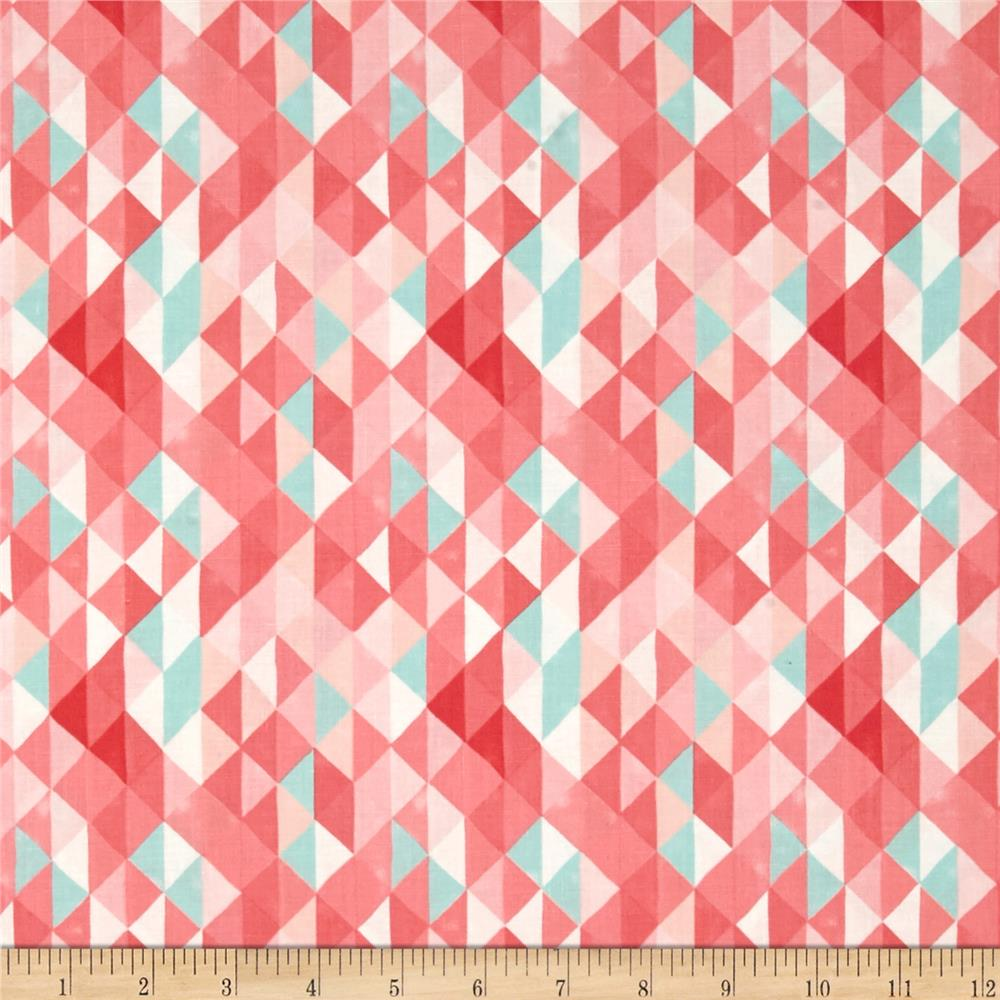 Moda Hazelwood Half Square Triangles Coral