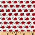 Timeless Treasures Nutty Buddies Ladybugs Cream