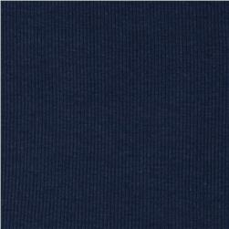 Basic Cotton Rib Knit Night Blue