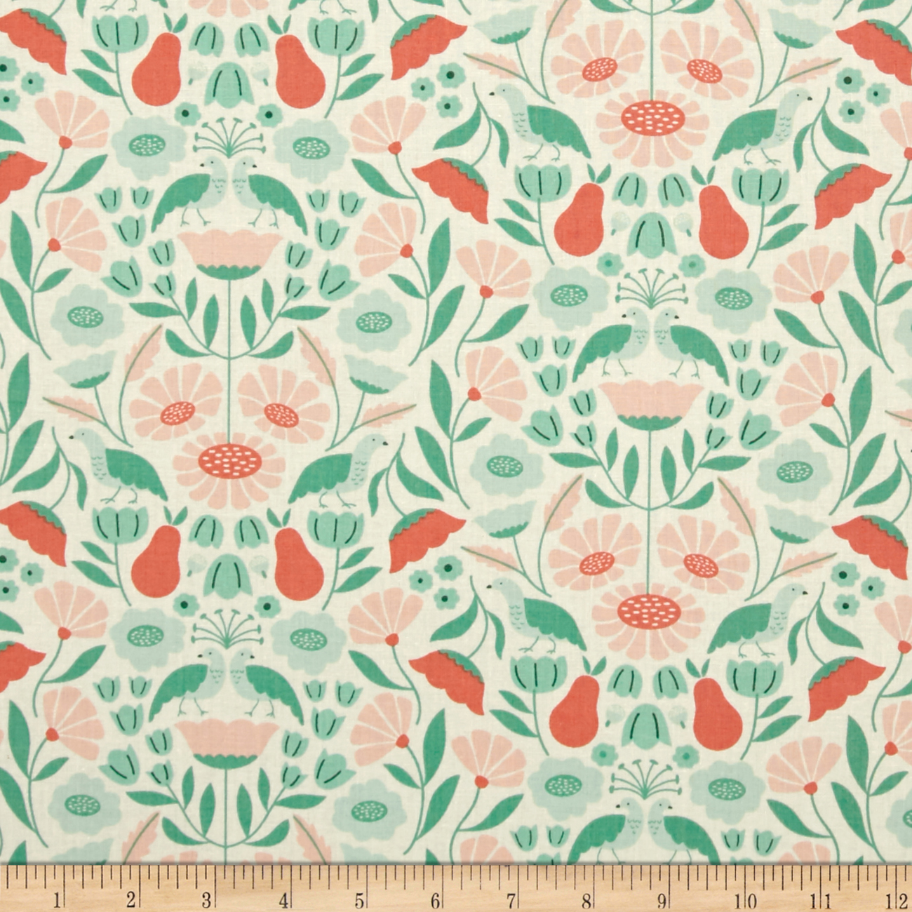 Cloud 9 Organic Park Life Victorian Afternoon Pink Fabric by Cloud 9 in USA
