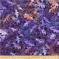Batavian Batiks Forest Leaves Purple/Peach