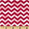Morning Mist Chevron Red