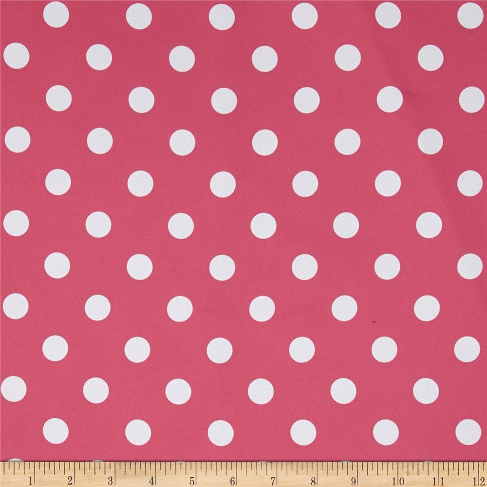 RCA Polka Dots Blackout Drapery Fabric Hot Pink