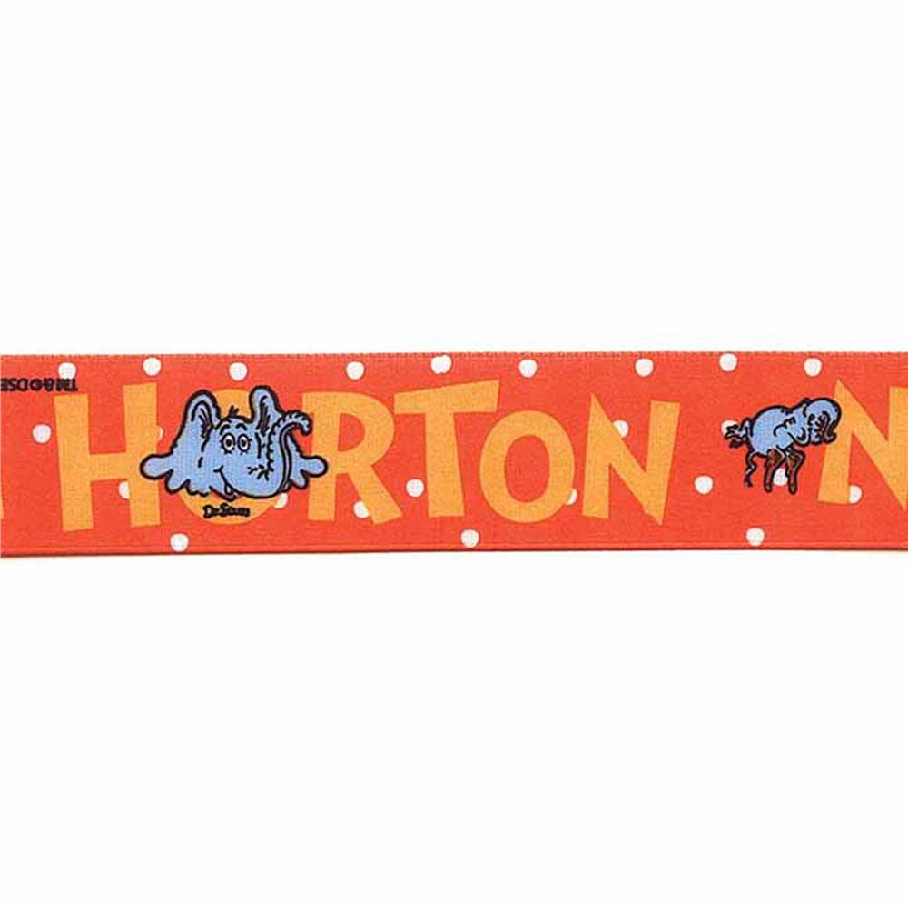 7/8'' Dr. Seuss Horton Ribbon Red