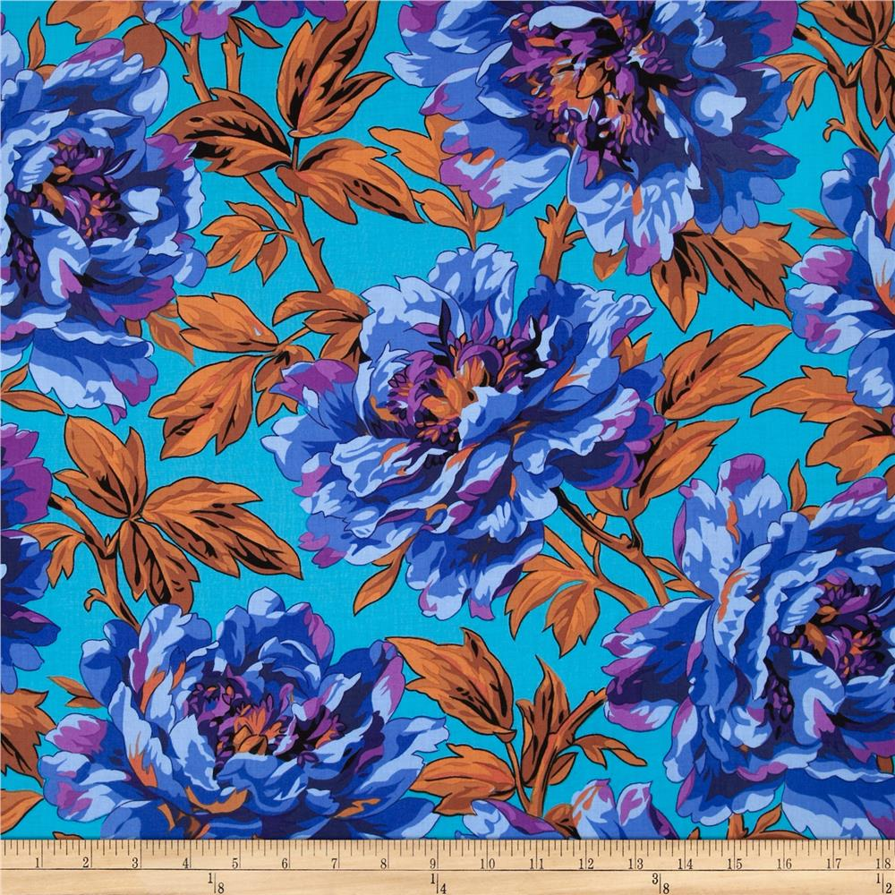 Kaffe Fassett Spring 2014 Collective Water Tree Peony Blue