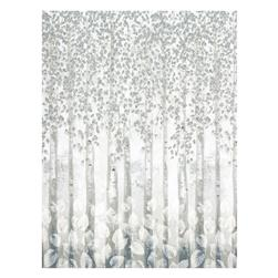 Kaufman Sound Of The Woods Metallic Border Ice