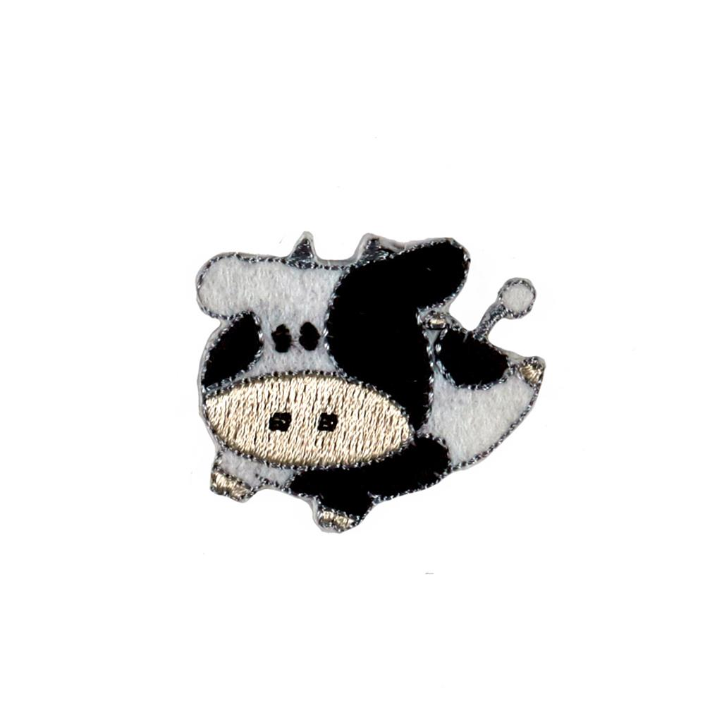 Cow Pocket Applique Black/White