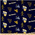 Collegiate Cotton Broadcloth West Virginia