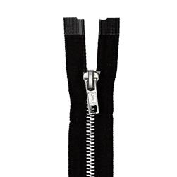 "Coats & Clark Heavy Weight Aluminum Separating Zipper 22"" Black"