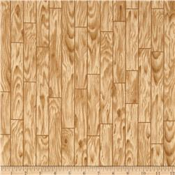 Stonehenge Kids Hoops Wood Floor Tan Fabric
