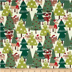 Woodland Christmas Scenic Green