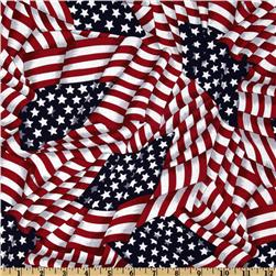 Patriotic Flags Red/White/Blue Fabric