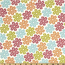 Moda Lucy's Crab Shack Daisies Cream/Multi
