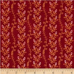 Mary Koval Tree of Life Vine Stripe Red