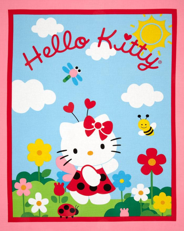 Hello Kitty Wallhanging Panel Pink