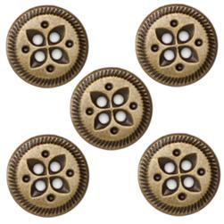Fashion Button 5/8'' Value Pack Leaves Antique Brass