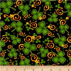 Lucky Shamrocks Shamrocks & Scrolls Black