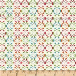 Fabric Freedom Christmas Character Snowflakes Turquoise
