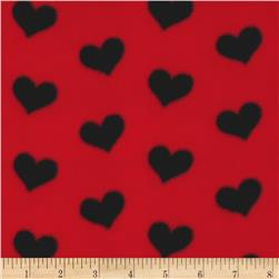 WinterFleece Hearts Red