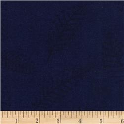 "110"" Wide Flannel Quilt Back Fern Blue"