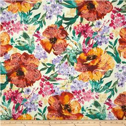 Timeless Treasures Indian Summer Large Floral Cream