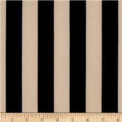 Scuba Stripe Beige Black