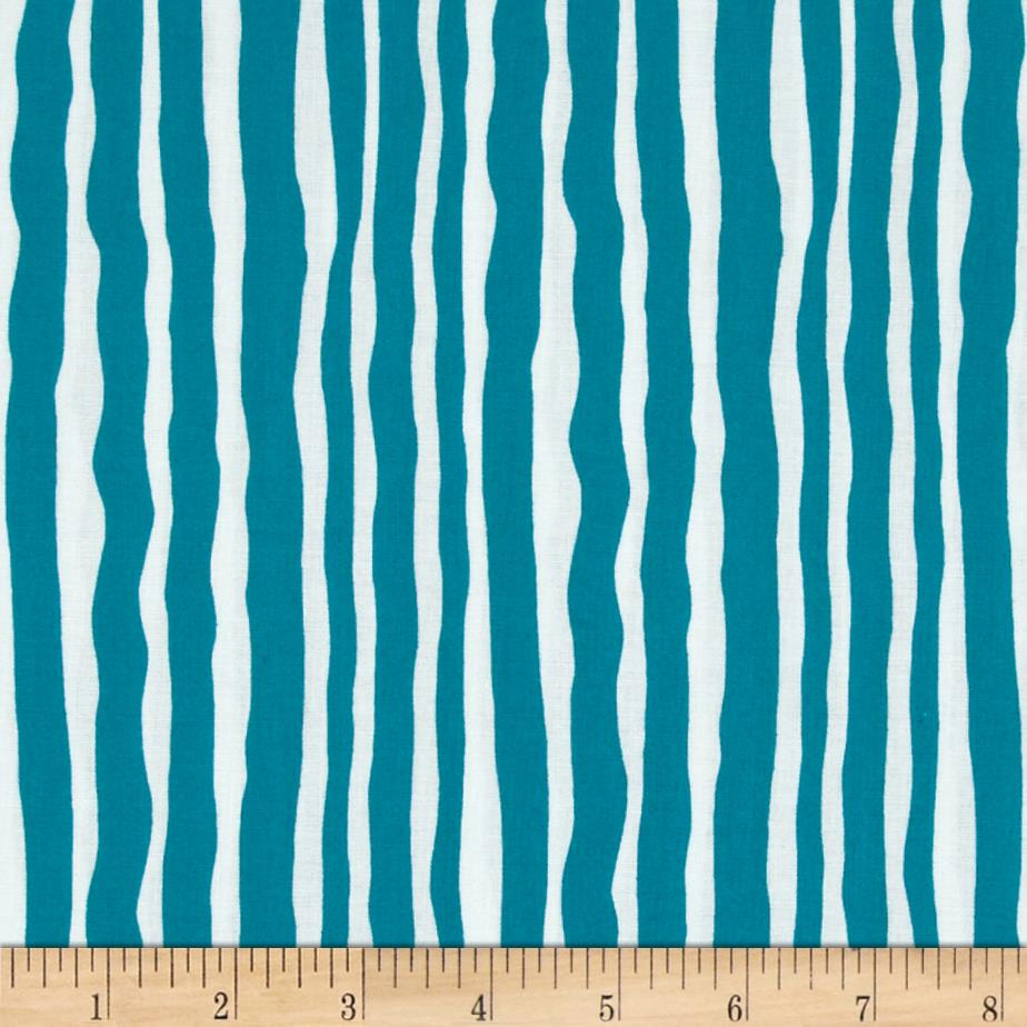 Contempo Palm Springs Palm Stripe Turquoise