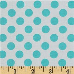 Michael Miller Ta Dot Aqua Fabric