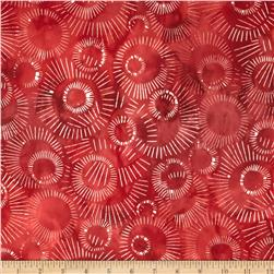 Elementals Batiks Sunburst Red