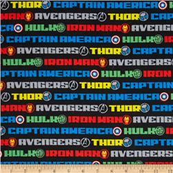 Marvel Avengers Flannel Name Stripe Multi