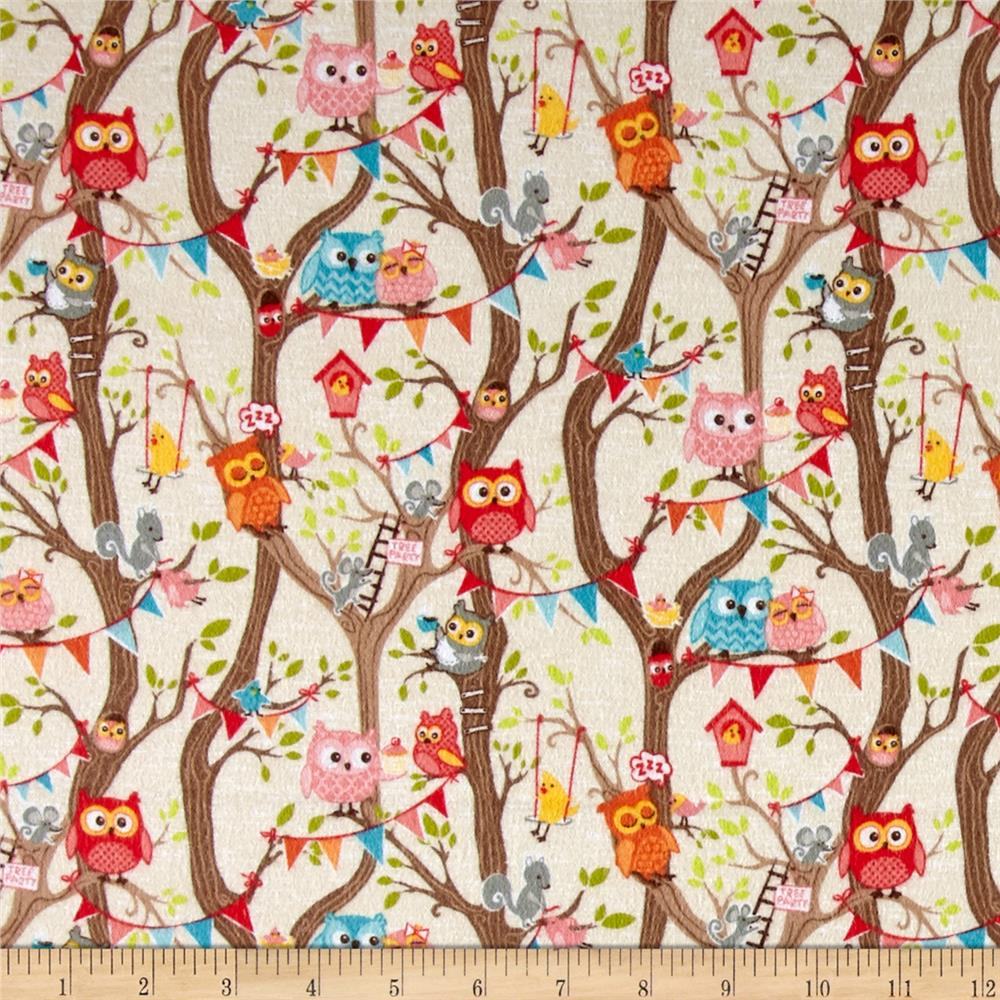 Riley Blake Tree Party Flannel Main Cream