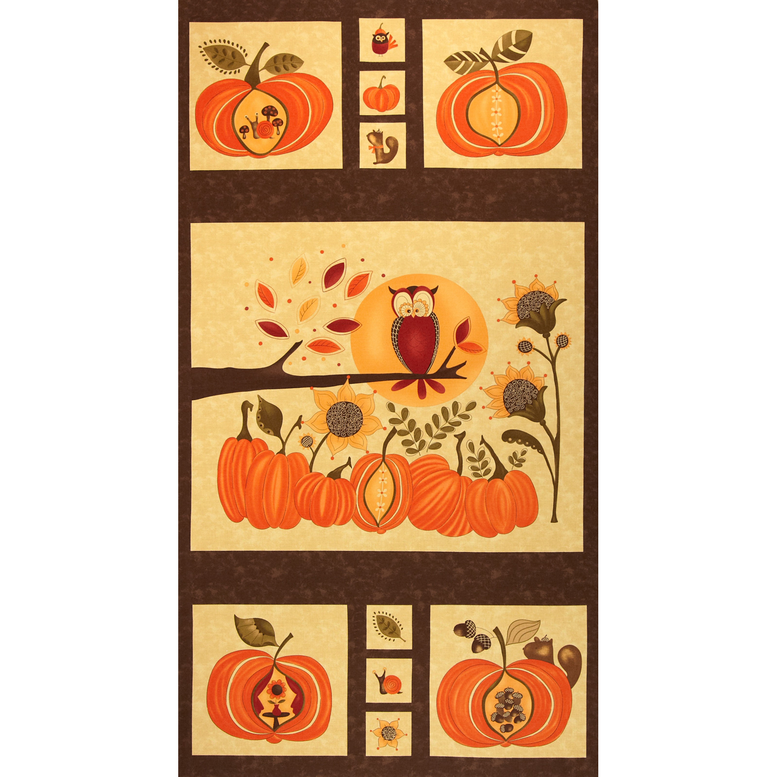 Moda Hello Fall Panel Bark Fabric