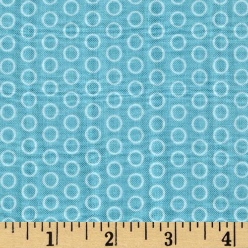 Riley Blake Circle Dot Aqua