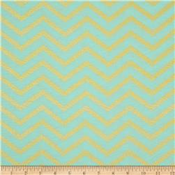 Michael Miller Glitz Metallic Sleek Chevron Pearlized Mist