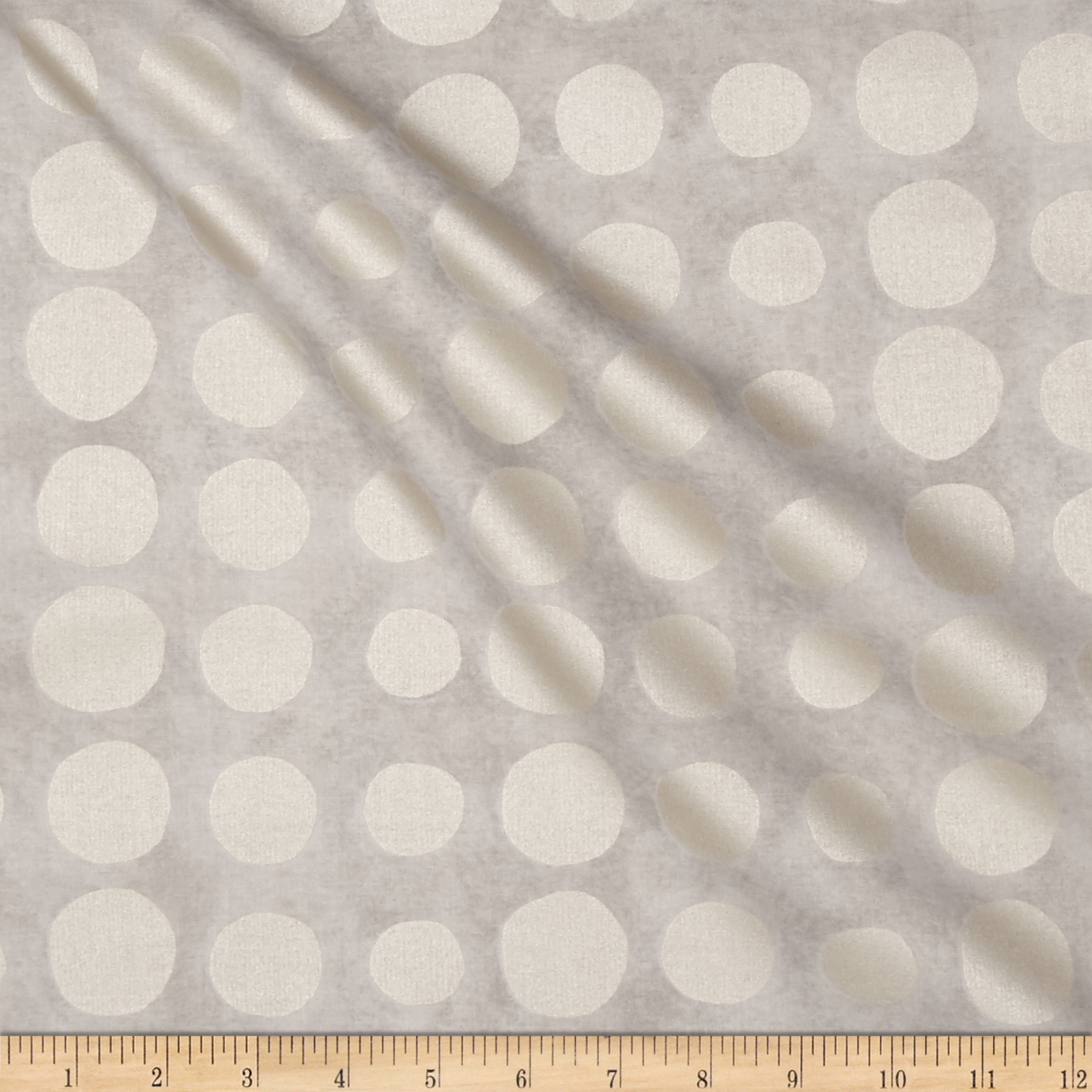 Pearlized Dot Light Grey Fabric by Stardom Specialty in USA