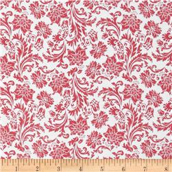 Love Notes Damask White/Pink